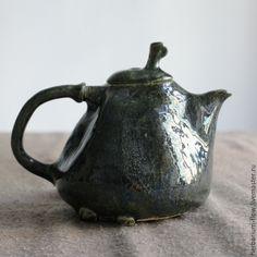 Купить черничные ночи.чайник - керамика ручной работы, керамика herbarium, чайник