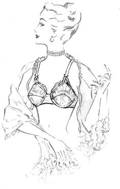 Dottie's Delights Lingerie Sketch. I would love to frame this and have it on my wall.