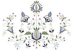 poduszka powłoczka haft Kaszubski - hafty wzory Kaszubskie - Srebrna Agrafka