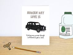 Modern day love is Card  Funny Valentines Day card