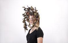 Headderess by millinery student Catharina Carlsson