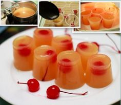 Pineapple Upside Down Jello Shot - Bottoms UP! :)