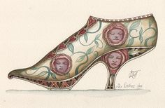 Alice in Wonderland Duchess Shoe by Dominic Murphy