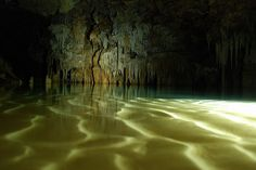 Rio Secreto is a huge system of caves near to Playa del Carmen, Mexico. Photo Credit Paul Steele