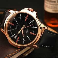 YAZOLE Top Brand Luxury Watch Men Watch Waterproof Leather Fashion Watches  Mens Watches Hour Gift relogio masculino reloj hombre bf9e9fe5ca