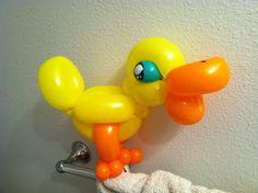 Quack quack! Balloon animal duck http://www.tampatwisters.com