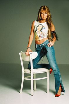 Thalia photographed by Omar Cruz, 2002 Thalia Sodi Collection, Celebs, Celebrities, Singer, Actresses, Hair Styles, Clothes, Photoshoot Fashion, Friends