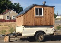 Cross between a Compact Camping Trailer and Tiny House. Photo by Joe Harker