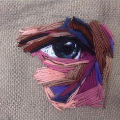 Oeil brodé