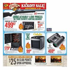 Cabela's Pre-Black Friday 2018 Ads and Deals Browse the Cabela's Pre-Black Friday 2018 ad scan and the complete product by product sales listing. Black Friday Ads, Weapon, Coupons, Hold On, Guns, Weapons Guns, Naruto Sad, Coupon, Weapons
