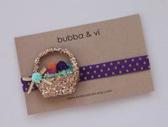 Glitter Hair Clip - Easter Basket Hair Clip - Glitter Easter Basket Hair Clip - Easter Basket Headband, Bubba and Vi on Etsy, $17.79 AUD