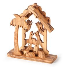 @WorldCrafts {Holy Land 3-D Nativity ~ Glad Tidings ~ Jordan} This all-in-one Nativity represents a centuries-long tradition of carving stories into olive wood in Jordan. The Glad Tidings artisans who carve these Nativities are able to earn income to support themselves and their families while doing something they love.  #fairtrade