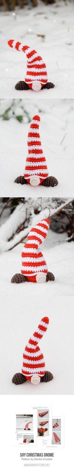 Shy Christmas gnome amigurumi pattern