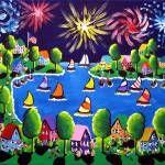 """Fireworks"" by reniebritenbucher Frames On Wall, Framed Wall Art, Wall Art Prints, Framed Prints, Buy Fireworks, Family Canvas, Art Terms, Kite Flying, Custom Canvas"