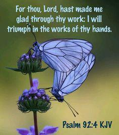Psalm 92:4 KJV