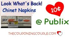 Chinet Napkins Only $0.10 @ Publix starting 6/30. Get your coupons printed to be ready for this great deal on napkins this coming week folks!  Click the link below to get all of the details ► http://www.thecouponingcouple.com/chinet-napkins-only-0-10-publix-starting-317/ #Coupons #Couponing #CouponCommunity  Visit us at http://www.thecouponingcouple.com for more great posts!