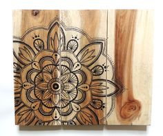 Mandala Picture - Hand Painted Reclaimed Wood, Rustic, Home Decor, Wall Art, Gift, Up-cycled, Indian Design, Boho, Boho Style Picture,