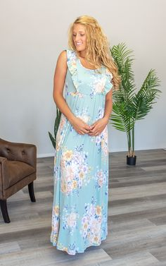 The Molly – Mountain Aire Boutique Floral Maxi Dress, Boutique Clothing, Fabric, How To Wear, Mountain, Clothes, Shopping, Dresses, Fashion