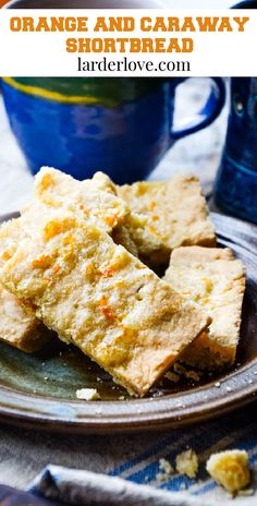 Orange and caraway seed shortbread is sweet and zingy and the perfect tea time treat. #shortbread #scottishbaking #teatime #larderlove Baking Tins, Bread Baking, Baking Recipes, Lavender Shortbread, Dough Press, Biscuit Bread, Scottish Recipes, Caraway Seeds