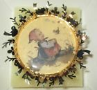 For Sale - VINTAGE HUMMEL GOLD CHRISTMAS 24K GOLD PLATE ORNAMENT MEETING IN THE MEADOW