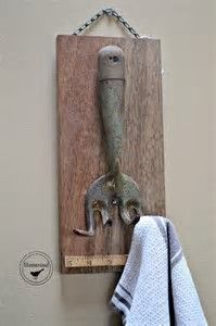 Image result for old tools repurposed