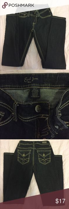 Dark blue jeans, bought from Macy's, size 1 Size 1, Never worn. They were too big for me, great condition ! Earl Jeans Jeans Skinny
