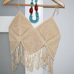 Boho style top. Ready for Summer? 😎#crochet #knitting #knittstagram #handmade #boho #handmadewithlove❤