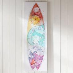 Girls Surfboard Canvas Art | PBteen #SurfHair