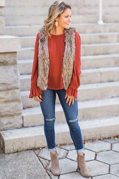 Fur Ever Mine Faux Fur Vest at reddressboutique.com