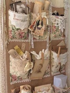Diy craft Vintage Quilting Victorian Shabby Chic 18 New Ideas How To Choose The Right Colors For You Doilies Crafts, Fabric Crafts, Sewing Crafts, Sewing Projects, Craft Projects, Crochet Doilies, Lace Doilies, Fabric Art, Sewing Ideas