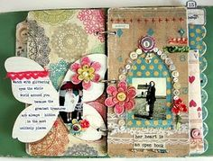"""Love how Linda added buttons all over the arched window edge- I'm starting to think minis may be my next """"thing""""."""