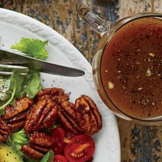 Cider-Sorghum Vinaigrette | MyRecipes.com So light and good with the Waldorf Cobb Salad