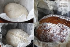 TUOREPURISTETTUA (aka Freshly Pressed blog by Marjo Vähäsarja): Country side bread without kneading | #bread #kneading # easy baking #sour dough