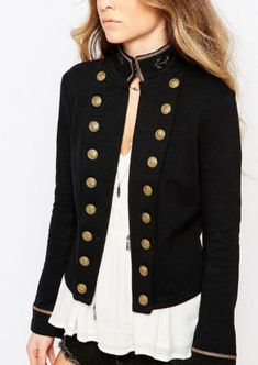 The military coat- CosmopolitanUK Mode Outfits 5572930280