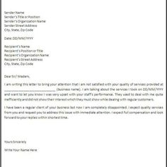 10 business complaint letter templates free sample example 10 business complaint letter templates free sample example within business complaint letter format letter of complente pinterest letter templates wajeb Choice Image