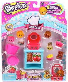 Want to make some Sweet Waffle Wonders? Start cooking some tasty treats that can't be beat with the Shopkins Chef Club Waffle Collection! They are the sweetest flat little friends you'll meet! 8 yumm...