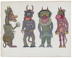 At Collection de l'Art Brut until October 26, some fifty plates with drawings by Spanish artist Josep Baqué are shown.