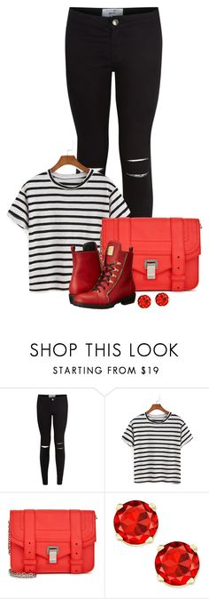"""Red"" by arrowette-854 ❤ liked on Polyvore featuring New Look, Proenza Schouler and Giuseppe Zanotti"