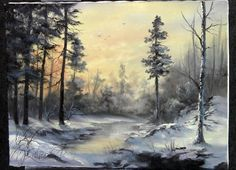 Want to paint a winter scene? Watch Kevin as he shows you how to layer the snow with shadows and highlights! For more information about brushes and oil paint, go to: www.paintwithkevin.com