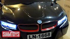 SIAMTOYS - รถเด็ก รุ่น LN1668 ทรง BMW i8 mini (สีดำ) - Line id : @siamto...