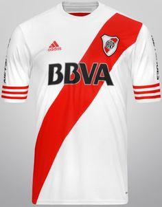 Nice Day Sports: Argentine River Plate adidas Home Kit / Ha. Soccer Kits, Football Kits, Football Jerseys, Soccer Uniforms, Adidas, Home And Away, Sports Shirts, Sport, Amor