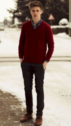Polo Ralph Lauren Jumper, Polo Ralph Lauren Denim Shirt, Zara Pants, River Island Shoes Swag on full attack (Redweek) Ralph Lauren Denim Shirt, Ralph Lauren Jumper, Boy Fashion, Winter Fashion, Mens Fashion, Fashion 2015, Fashion Images, Fashion Ideas, Style Casual