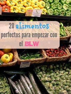 20 alimentos para empezar con el BLW