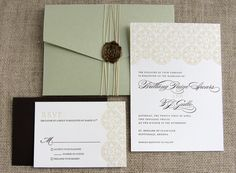 Spanish tile invites in white and ivory  LOVE maybe not the color but this is the best simple but elegant invitations I've seen
