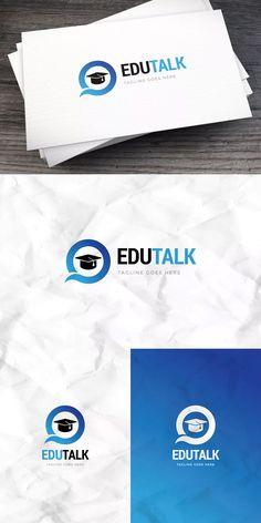 Edutalk Logo Template AI, EPS