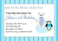 ADORABLE!!! Arctic Party Printable Invitations by TrishsDesignStudio on Etsy, $12.00