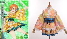Cute Hoshizora Rin Kimono Bathrobe Dress Cosplay Anime Love Live YUKATA Series