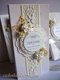 Rzekotka blog - rękodzieło wszelakie First Communion Cards, First Holy Communion, Handmade Decorations, Holi, Frame, Scrapbooking, Diy, Ticket Invitation, Christening Card