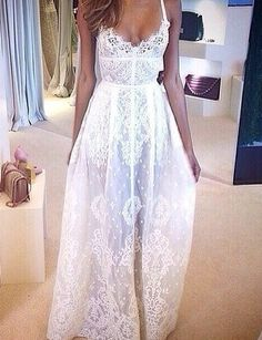 Prom Dress For Teens, A-Line Spaghetti Straps Floor Length Lace Wedding Dress, cheap prom dresses, beautiful dresses for prom. Best prom gowns online to make you the spotlight for special occasions. Lace Dresses, Pretty Dresses, Beautiful Dresses, Prom Dresses, Formal Dresses, Wedding Dresses, Dress Lace, Dress Prom, Party Dress