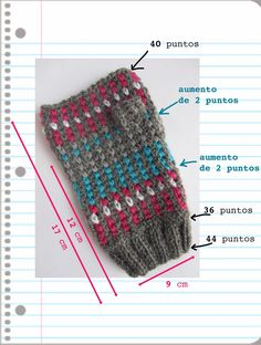 Me encantaron estos mitones en cuanto los vi. Así que rebuscando en los restos … I loved these mittens as soon as I saw them. So I went through the remains of wool and selected the wool, turquoise, white … Dog Sweater Pattern, Crochet Dog Sweater, Knit Crochet, Crochet Hats, Fingerless Gloves Crochet Pattern, Knitted Gloves, Knitting Patterns, Crochet Patterns, Crochet Leg Warmers
